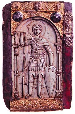 Святой Георгий. Икона якобы XI в. (монастырь Ватопед)