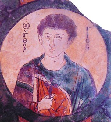 Вмч. Георгий. Керамическая икона. Никомидия. X-XI вв. (ГИМ)