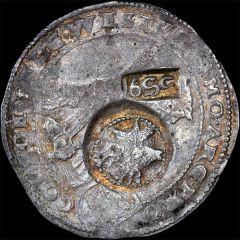 Ефимок с признаком 1655 года, на талере 1650 года.