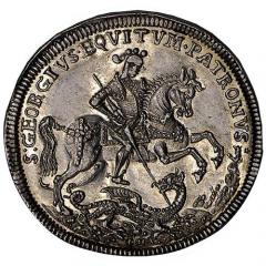 Георгталер. Серебряные европейские монеты 16-17 века
