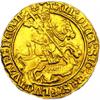 Английский золотой нобль с Московским гербом в виде Георгия Победоносца
