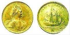 Золотая медаль на взятие Нотебурга (Орешка), октябрь 1702г