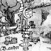 Гравюра якобы 16 века. План города Вены. Над кафедральным собором Святого Стефана красуется полумесяц с восьмиконечной звездой.