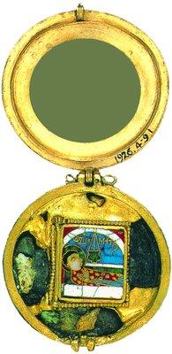 Успение вмч. Димитрия. Энколпион. XIII в. (Британский музей, Лондон)