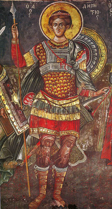 Димитрий Солунский. Греция. Афон. Монастырь Кутлумуш. 1540