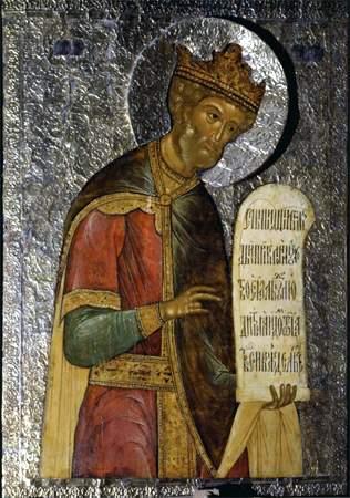 Назарий Истомин Савин. Икона пророка Давида из пророческого ряда иконостаса церкви Ризоположения в Московском Кремле. 1627