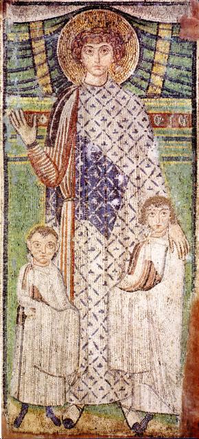 Мозаика. Святой Дмитрий. Салонники. Церковь Агиос Демитриос.