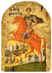 древнеболгарская икона Великомученик Димитрий Солунский