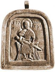 Вмч. Димитрий Солунский. Икона. XII в. (ГИМ)