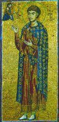 Вмч. Димитрий Солунский. Икона. 2-я пол. XII в. (мон-рь Ксенофонт на Афоне)
