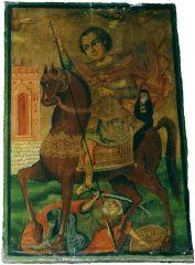 Дмитрий Солунский. Древнегреческая икона. Аллепский монастырь.