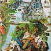 Осада Константинополя турками в 1453 г. Миниатюра из «Путешествия за моря» Бертрандона де ла Брокье. 2-я пол. XV в.