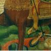 Древняя Икона (фрагмент). Святой Дмитрий. Алеппский монастырь.