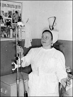 Пелагея Ивановна Солтер во время работы в Ивделе