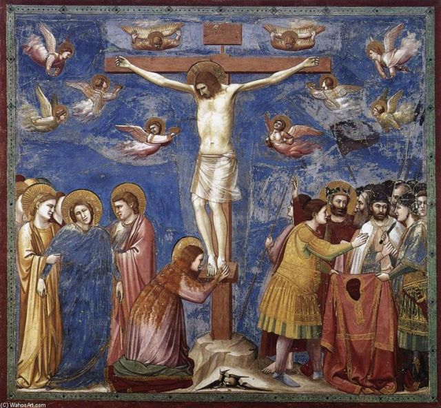 Giotto Di Bondone. Scenes from The Life Of Christ 19. Картина маслом, 14 век.