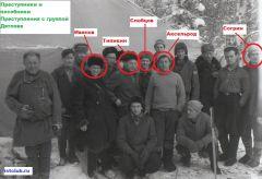 Преступники и пособники преступления с группой Дятлова