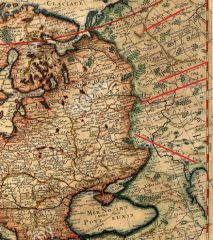 Карта Московии 1700